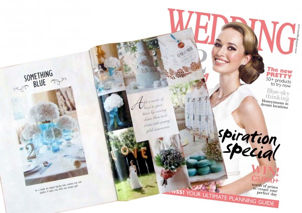 The feature as seen in Wedding magazine April-May 2013