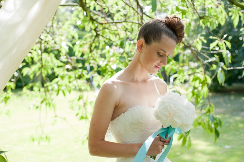 Boutique Blooms, wedding flowers, bouquet, hydrangea bouquet, white hydrangea, hydrangea, teal and white wedding