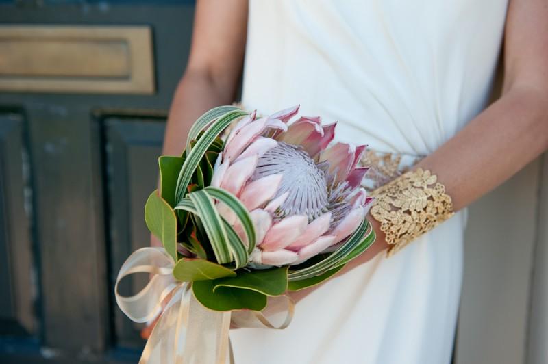 Boutique Blooms, wedding flowers, london wedding, different bouquet, protea, protea bouquet