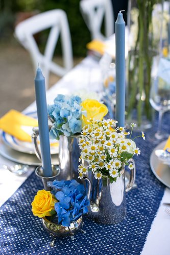 blue table linen, blue table runner, blue candles, flowers in vintage silver, flowers in teapot, teapot wedding flowers, vintage silver wedding flowers, Idyllic Days,blue and yellow centre piece, blue and yellow table centre, blue hydrangea, yellow roses, daisies, blue and yellow wedding, blue wedding, yellow wedding, blue and yellow wedding theme, Mary Poppins inspired wedding, Mary Poppins inspired photo shoot, Mary Poppins styled shoot, Y&YW styled shoot, You & Your Wedding, You & Your Wedding magazine, photo shoot stylist, stylist for You & Your Wedding magazine, Warren House wedding, wedding Warren House, wedding flowers Warren House, wedding, surrey wedding, wedding flowers, wedding flowers surrey, floral design, floral design surrey, florist, wedding florist, wedding florist surrey, stylist, wedding stylist, wedding stylist surrey, events, event stylist, event stylist surrey, event flowers, event flowers surrey, flowers for film, flowers for photo shoots, flowers for press events, corporate flowers, corporate flowers surrey, corporate event flowers, hotel flowers, hotel flowers surrey, Boutique Blooms, flowers Banstead, wedding florist Banstead, wedding flowers Banstead, floral design Banstead, floral designer, Jodie Vigor,