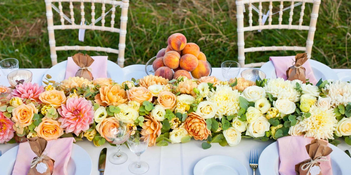 Peach Paradise: As featured in Wedding Flowers & Accessories Magazine